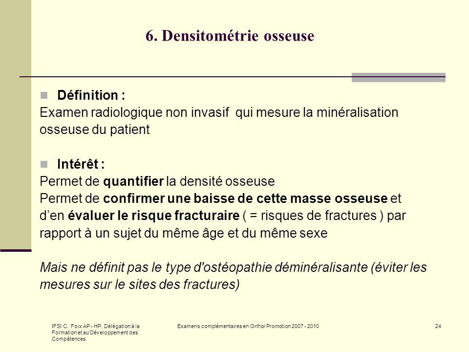 6. Densitométrie osseuse