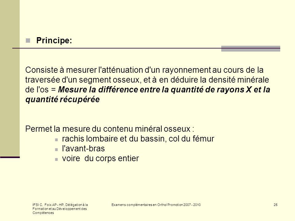 Examens complémentaires en Ortho/ Promotion 2007 - 2010