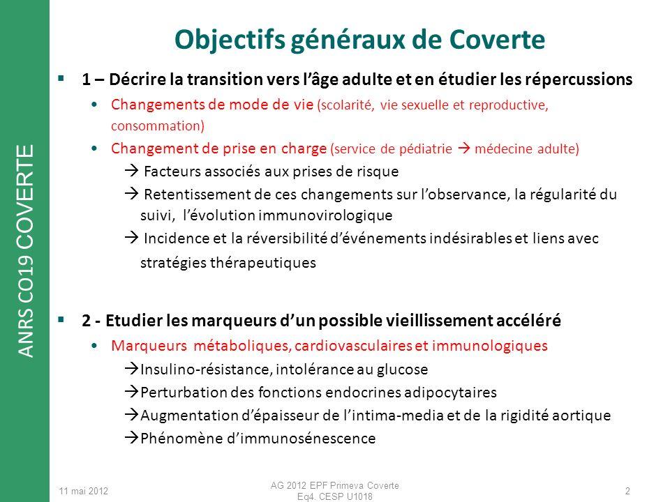 Objectifs généraux de Coverte