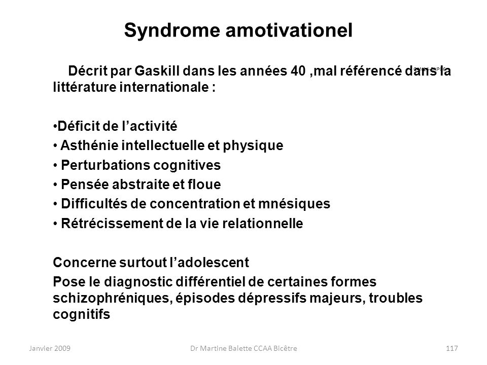 Syndrome amotivationel