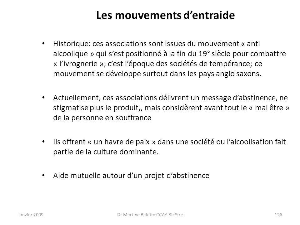 Les mouvements d'entraide