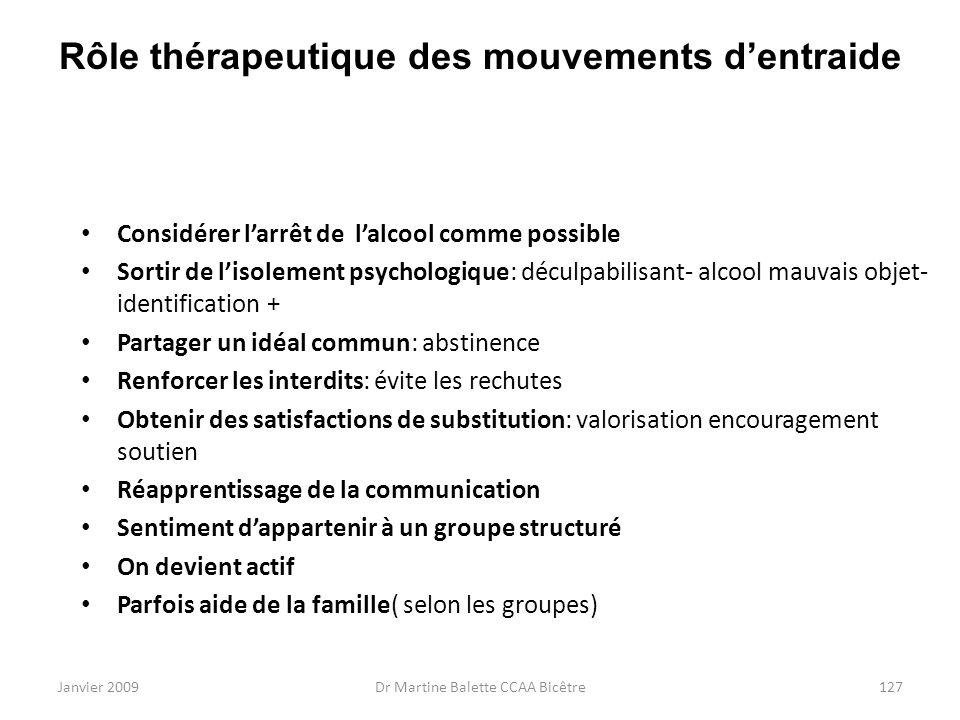 Rôle thérapeutique des mouvements d'entraide