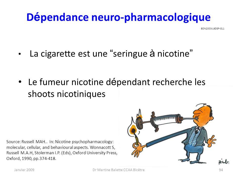Dépendance neuro-pharmacologique