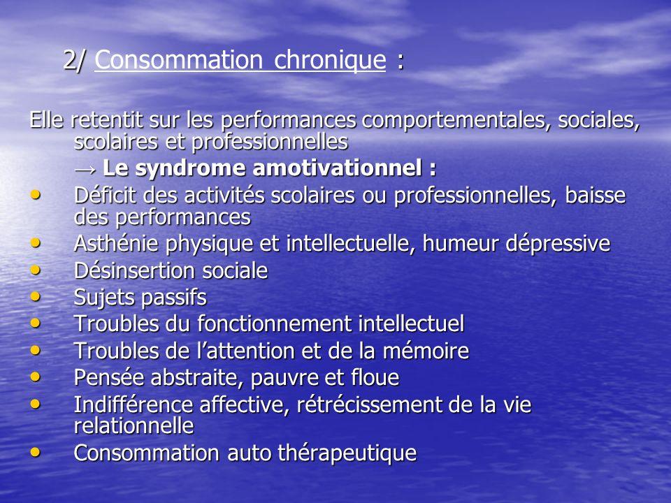 2/ Consommation chronique :