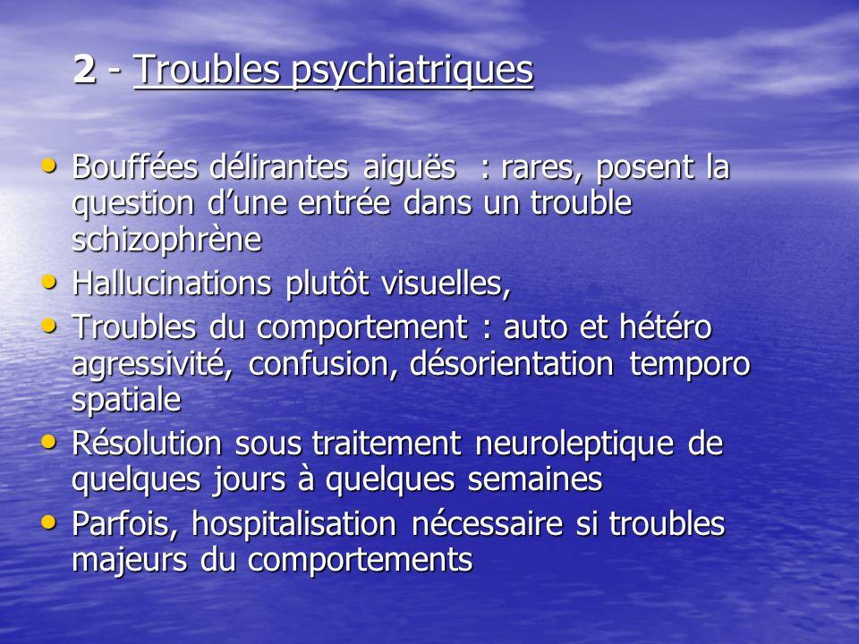 2 - Troubles psychiatriques