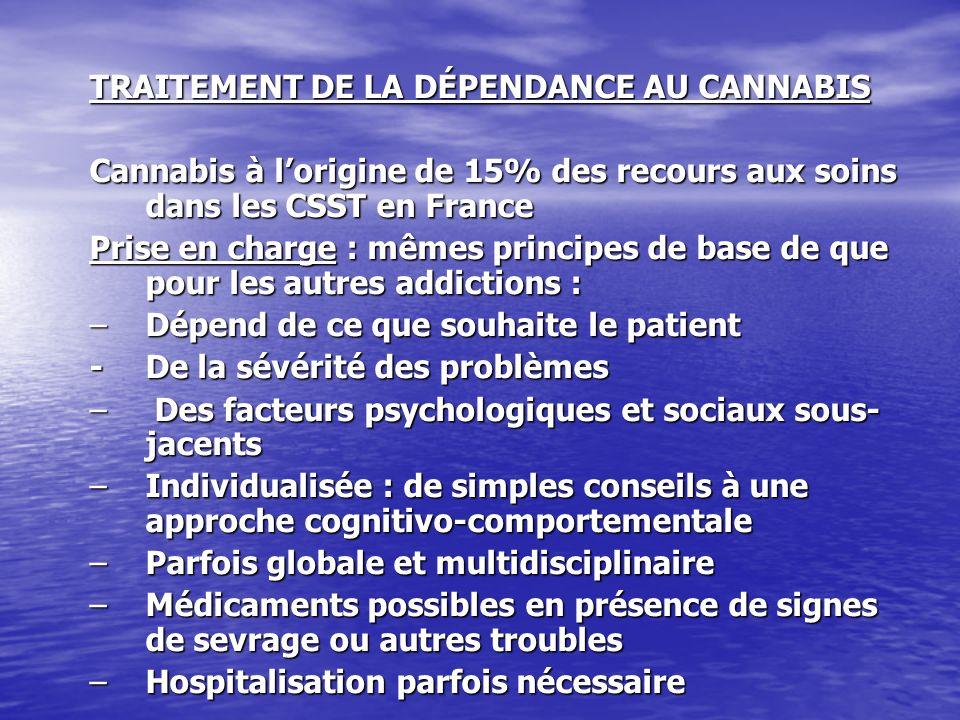 TRAITEMENT DE LA DÉPENDANCE AU CANNABIS