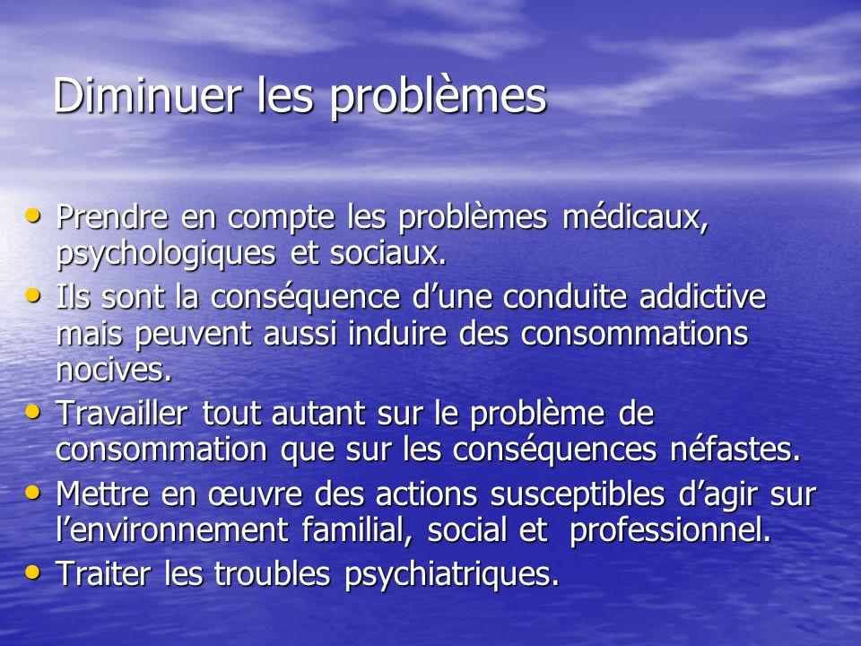 Diminuer les problèmes
