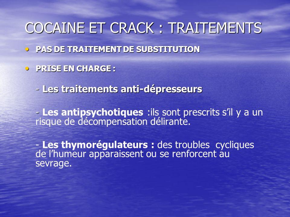 COCAINE ET CRACK : TRAITEMENTS