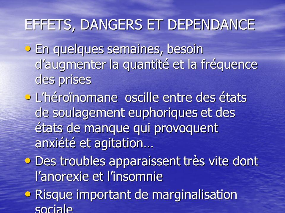 EFFETS, DANGERS ET DEPENDANCE