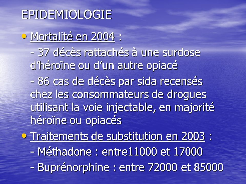 EPIDEMIOLOGIE Mortalité en 2004 :