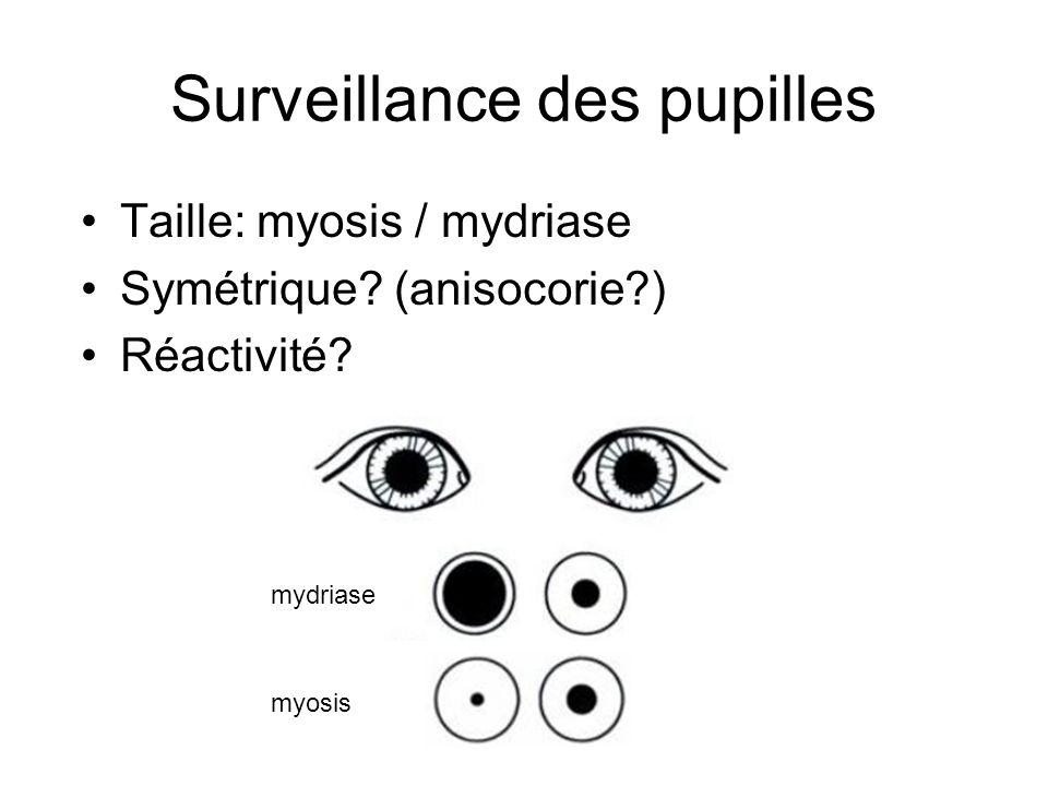 Surveillance des pupilles