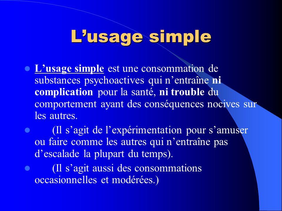 L'usage simple