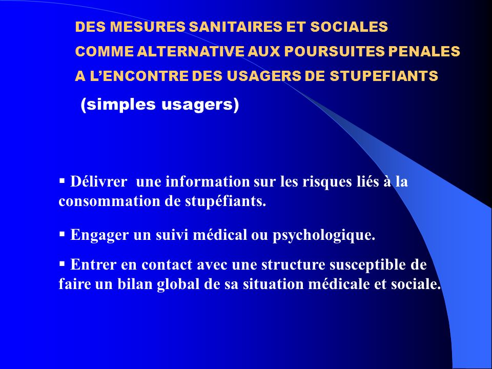 Engager un suivi médical ou psychologique.