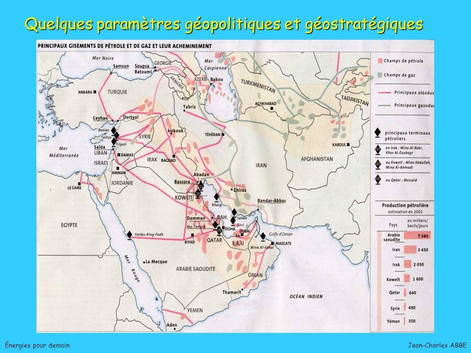 Quelques paramètres géopolitiques et géostratégiques