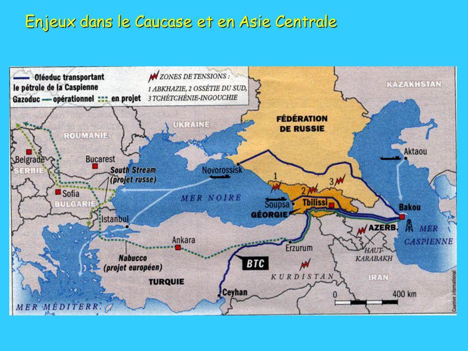 Enjeux dans le Caucase et en Asie Centrale