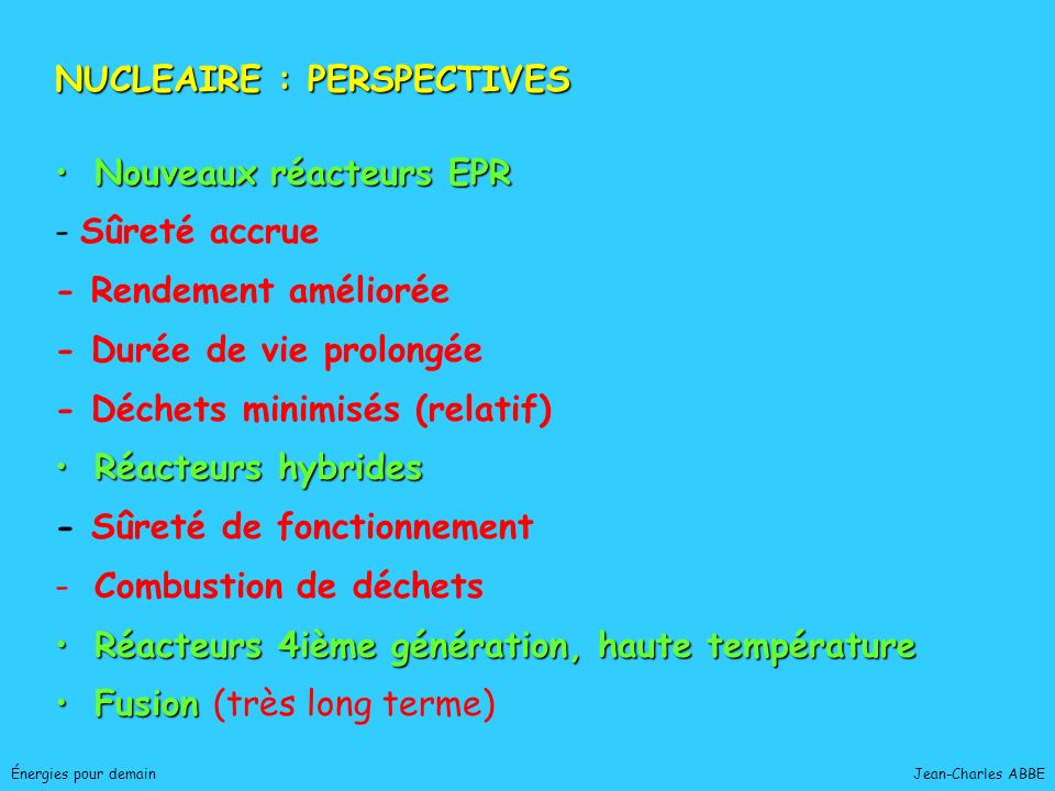 NUCLEAIRE : PERSPECTIVES