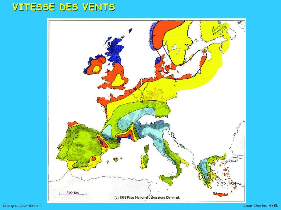 VITESSE DES VENTS Énergies pour demain Jean-Charles ABBE