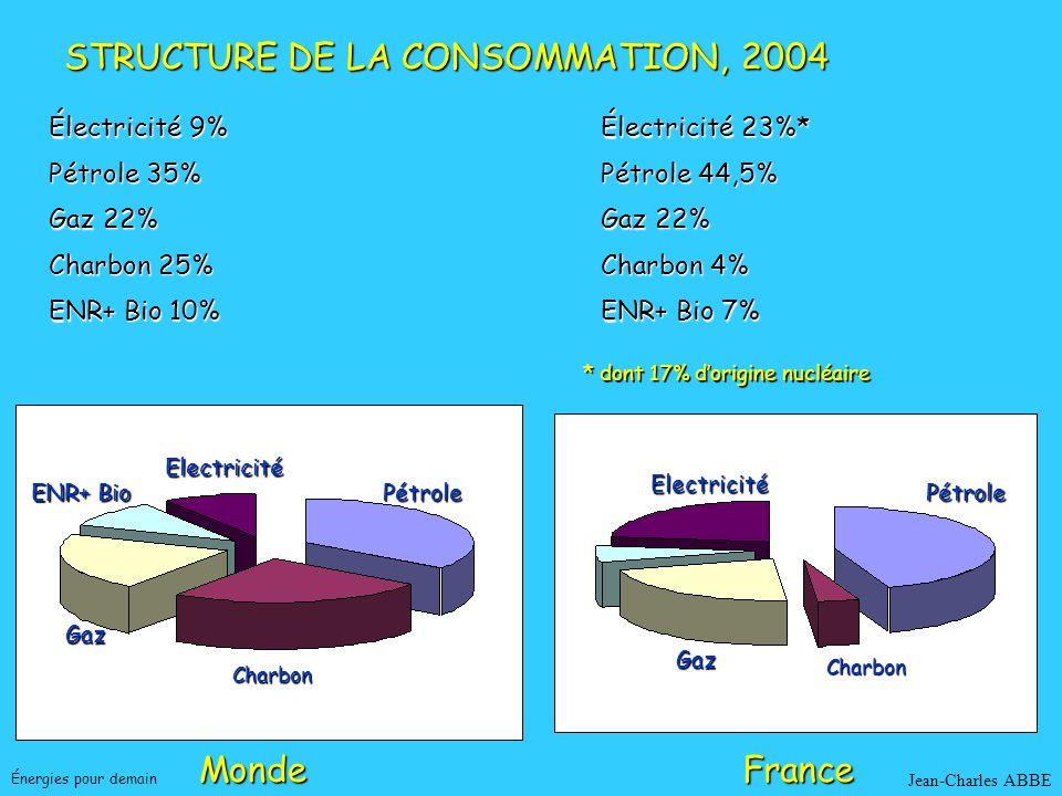 STRUCTURE DE LA CONSOMMATION, 2004