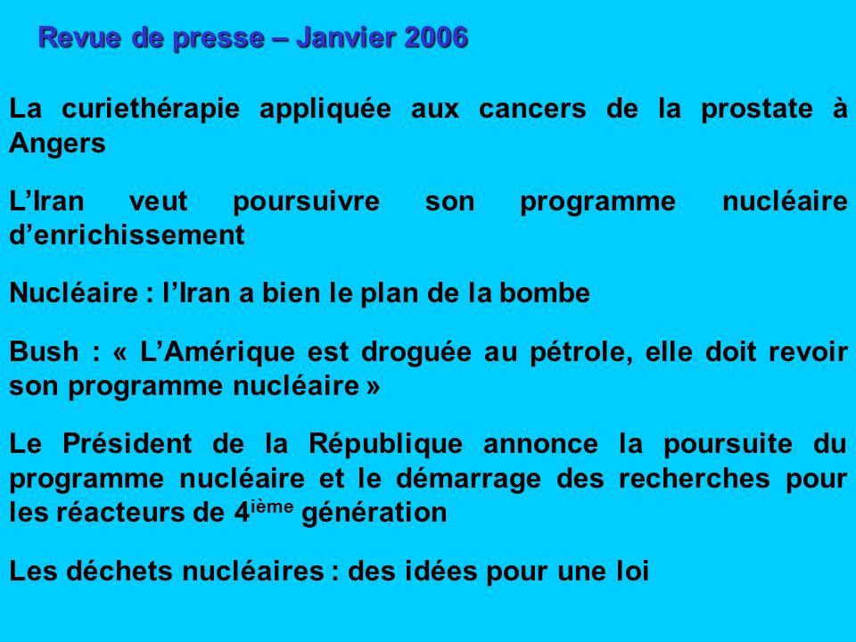 Revue de presse – Janvier 2006