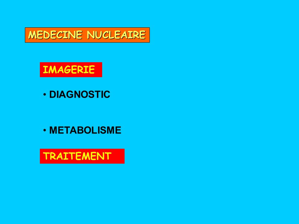 MEDECINE NUCLEAIRE IMAGERIE DIAGNOSTIC METABOLISME TRAITEMENT