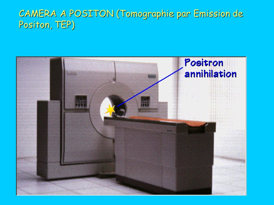 CAMERA A POSITON (Tomographie par Emission de Positon, TEP)