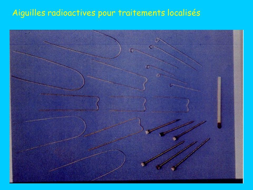 Aiguilles radioactives pour traitements localisés