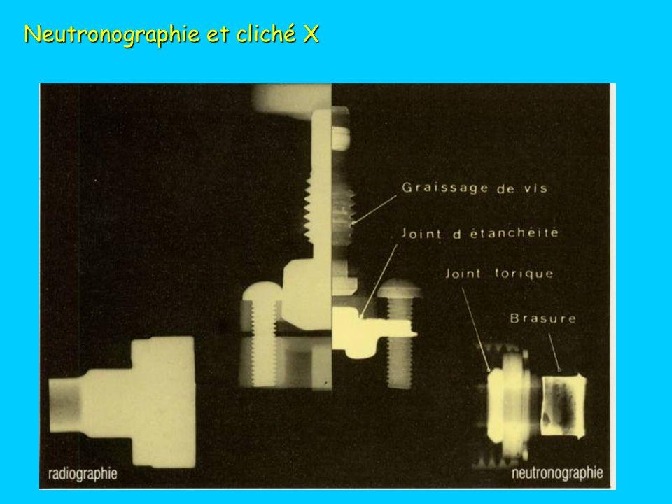 Neutronographie et cliché X