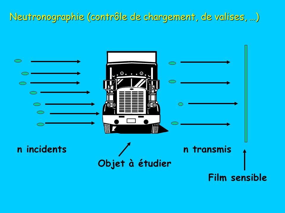 Neutronographie (contrôle de chargement, de valises, …)