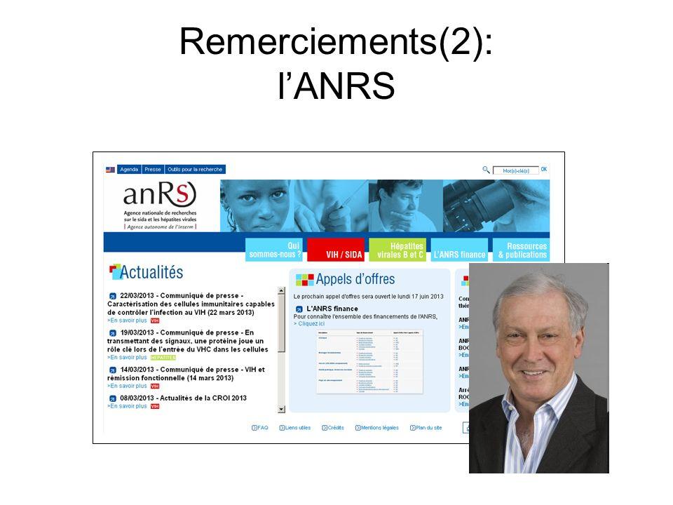 Remerciements(2): l'ANRS