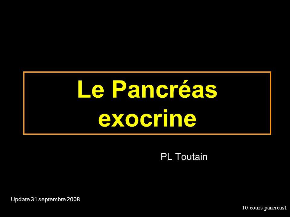Le Pancréas exocrine PL Toutain Update 31 septembre 2008