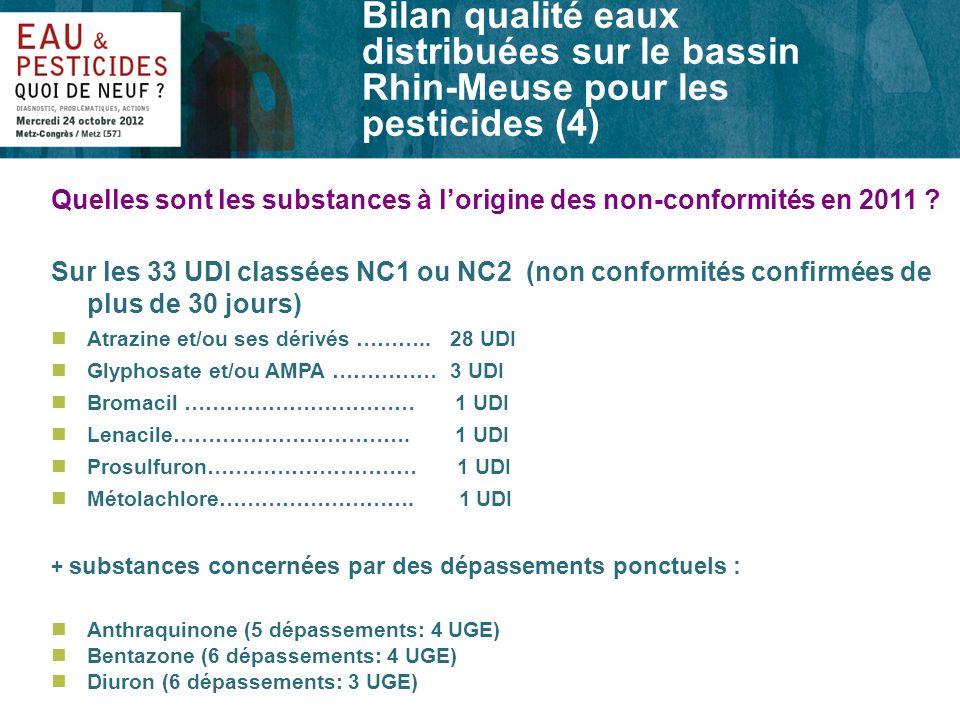 Bilan qualité eaux distribuées sur le bassin Rhin-Meuse pour les pesticides (4)
