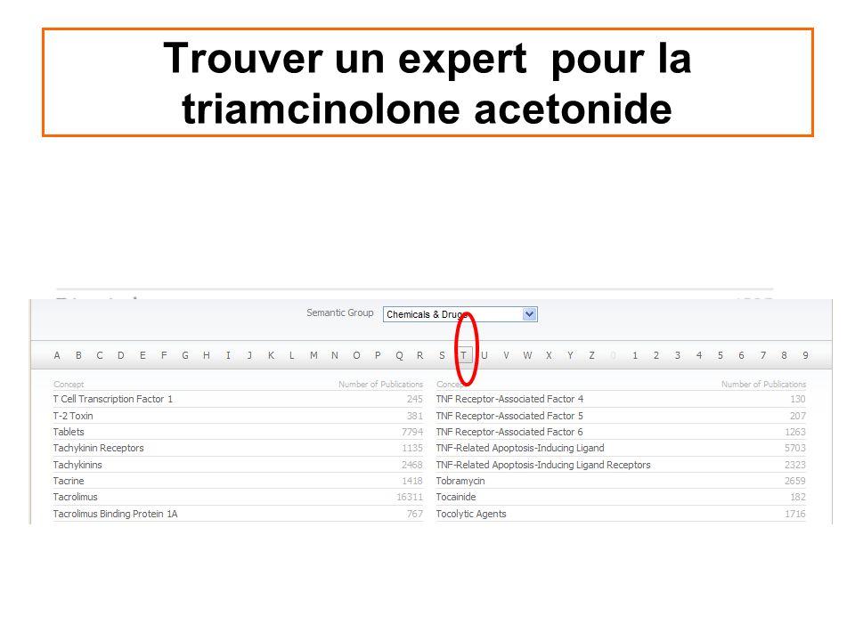 Trouver un expert pour la triamcinolone acetonide