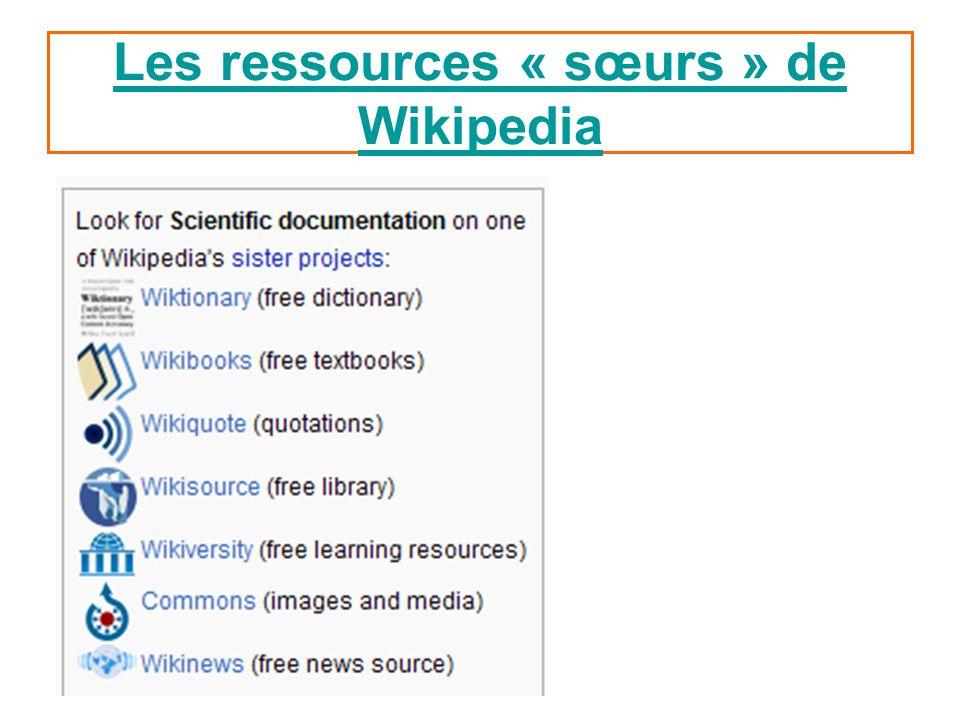 Les ressources « sœurs » de Wikipedia