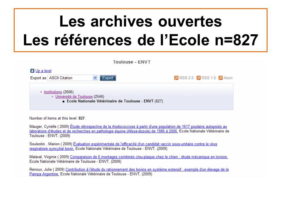 Les archives ouvertes Les références de l'Ecole n=827