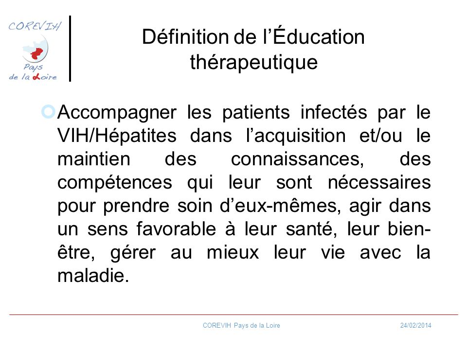Définition de l'Éducation thérapeutique