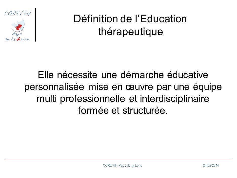 Définition de l'Education thérapeutique