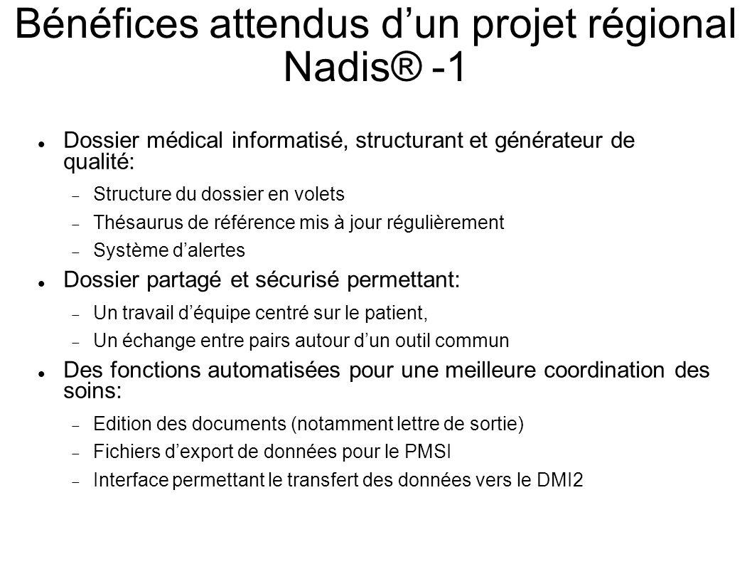 Bénéfices attendus d'un projet régional Nadis® -1