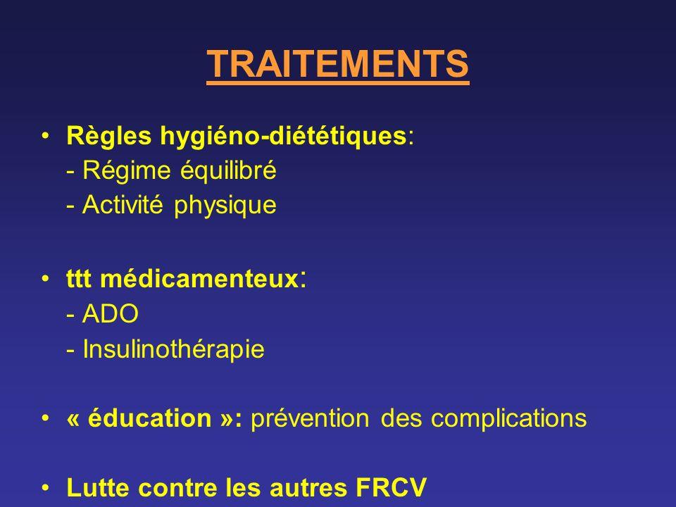 TRAITEMENTS Règles hygiéno-diététiques: - Régime équilibré