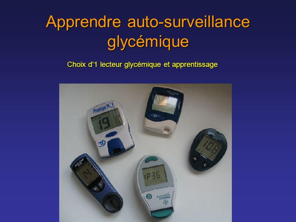 Apprendre auto-surveillance glycémique