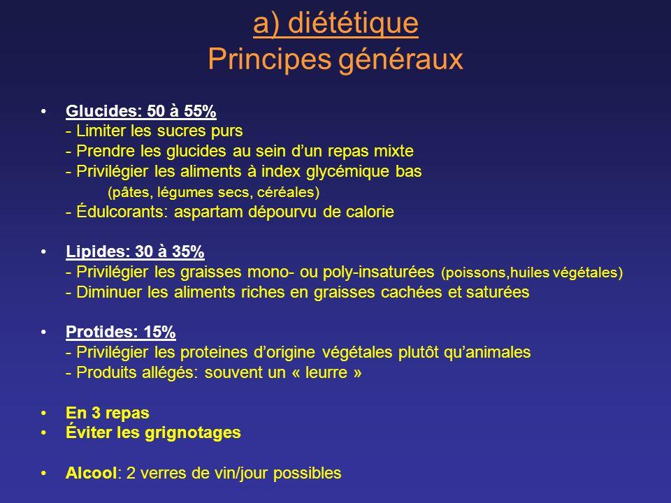 a) diététique Principes généraux