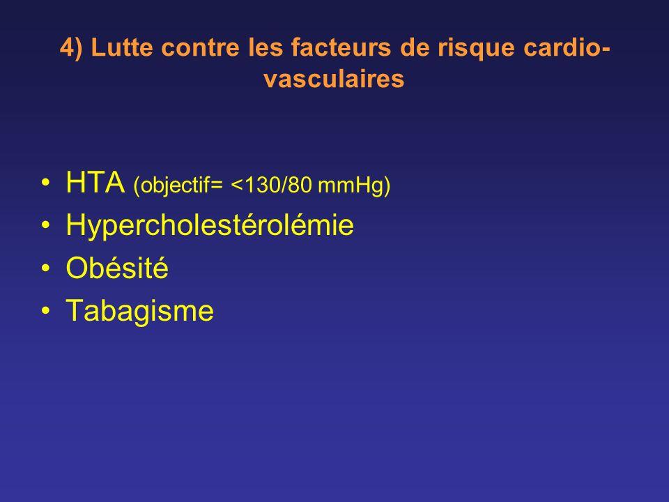 4) Lutte contre les facteurs de risque cardio-vasculaires