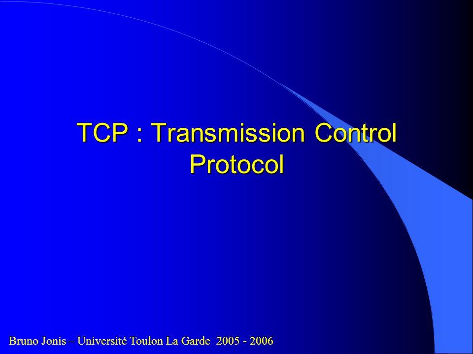 TCP : Transmission Control Protocol