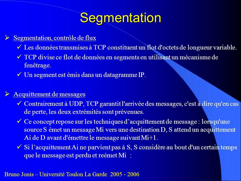 Segmentation Segmentation, contrôle de flux