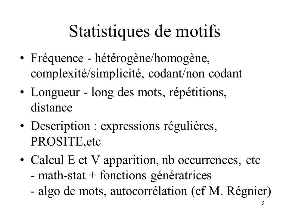 Statistiques de motifs
