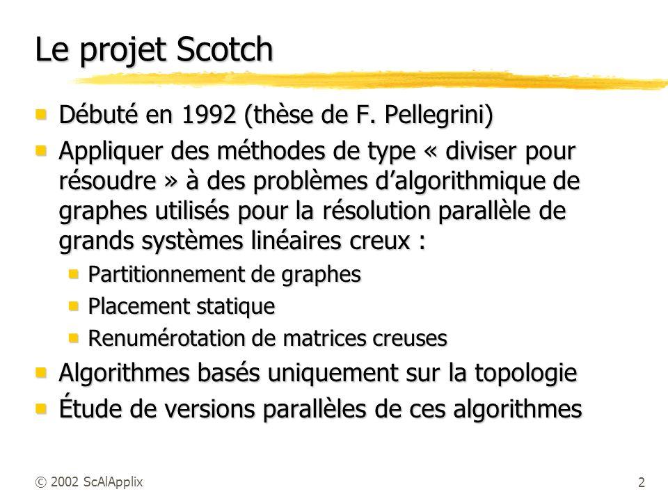 Le projet Scotch Débuté en 1992 (thèse de F. Pellegrini)