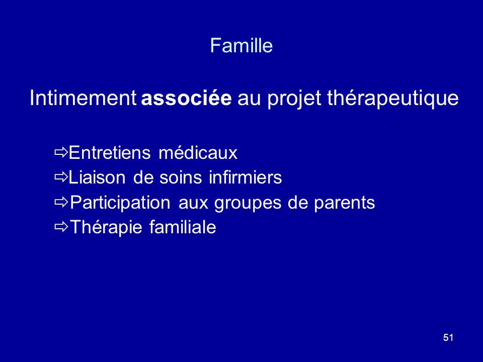 Intimement associée au projet thérapeutique