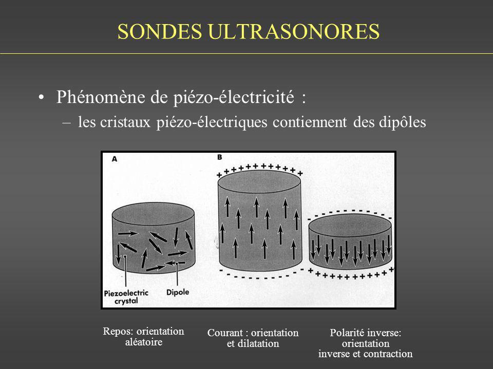 SONDES ULTRASONORES Phénomène de piézo-électricité :