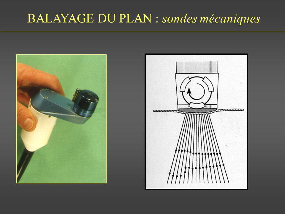 BALAYAGE DU PLAN : sondes mécaniques