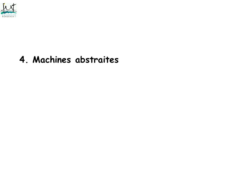 4. Machines abstraites