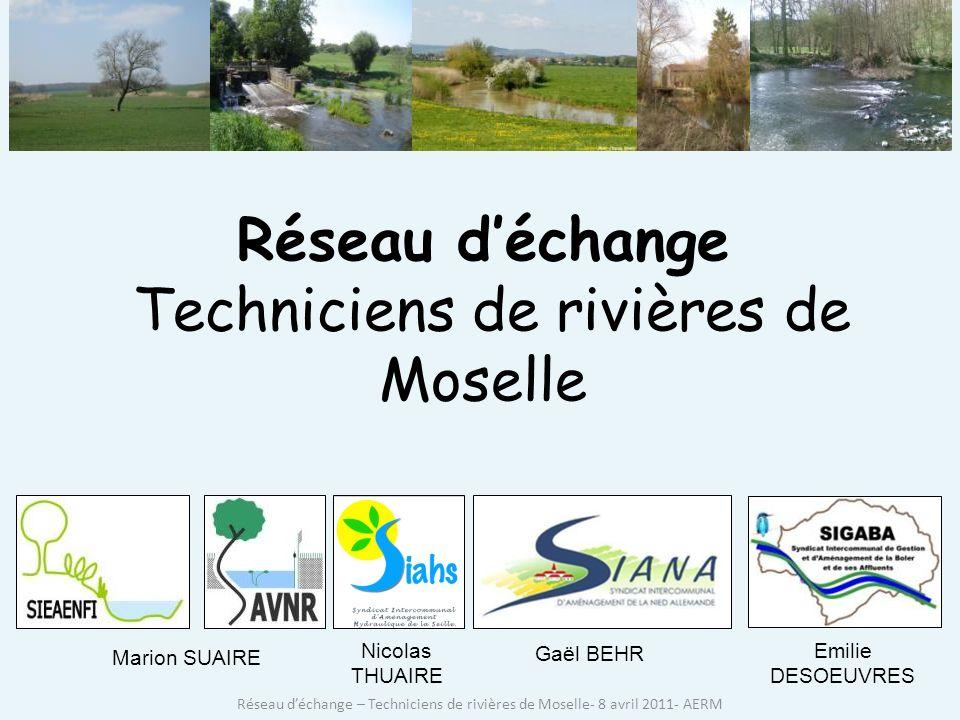 Réseau d'échange Techniciens de rivières de Moselle